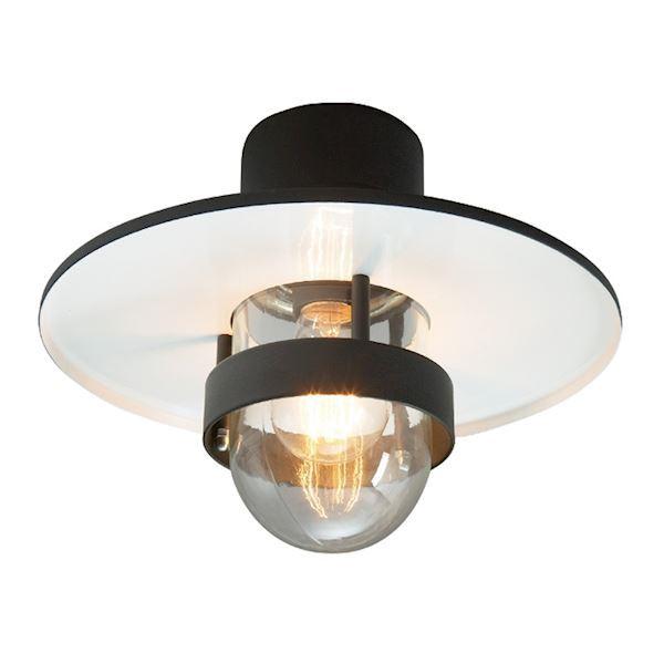 Bergen loftlampe sort klar e27 75w for Billige deckenleuchten