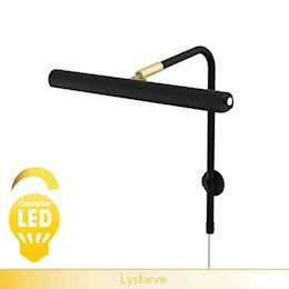GALLERY <br> LED dæmpbar - sort og messing 30 cm