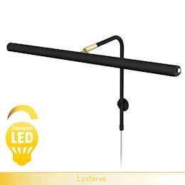GALLERY <br> LED dæmpbar - sort og messing 60 cm